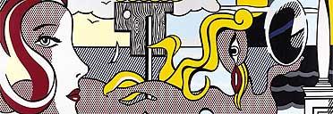 Detail from Figures in Landscape, Roy Lichtenstein, 1977