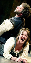 Jasper Britton and Alexandra Gilbreath in the RSC's The Taming of the Shrew