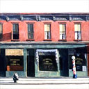Detail from Early Sunday Morning by Edward Hopper