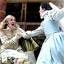 Josie Lawrence and Yolanda Vasquez in Much Ado About Nothing, Globe