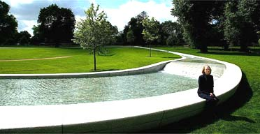Landscape architect Kathryn Gustafson with the Diana memorial fountain