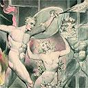 Satan, Sin and Death by William Blake