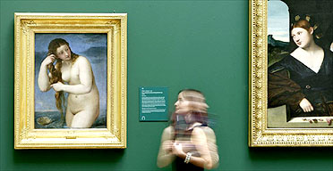 Titian's Venus Anadyomene and Bernardino Licinio's An Allegory of Love at the National Galleries of Scotland