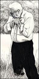 Simon Manfield's sketch of Antonio Piedrafita
