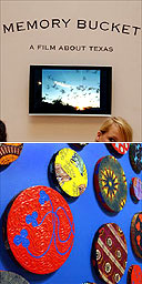 Part of Jeremy Deller's Memory Bucket and Yinka Shonibare's Maxa, Turner prize 2004 exhibition