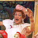Ian McKellen as Widow Twanky in Aladdin at the Old Vic, December 2004