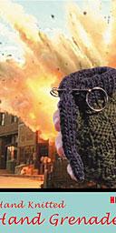 Hand Knitted Hand Grenade, Rachael Matthews