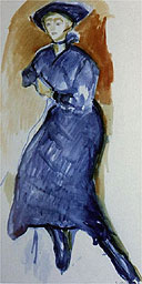Blue Dress, 1915 aquarelle by Edvard Munch