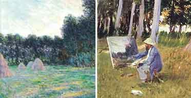 Monet Haystacks; Sargent Monet
