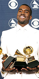 Kanye West at the 2005 Grammy awards