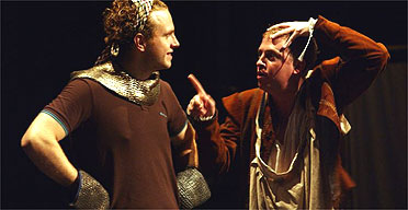 Rafe Spall and Ryan Early in Knight of the Burning Pestle, Young Vic