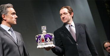 Ben Miles and Kevin Spacey in Richard II at the Old Vic