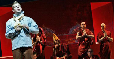 Young Vic production of Tintin, 2005 at the Barbican: Russell Tovey as Tintin