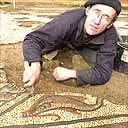Roman mosaic uncovered in Somerset