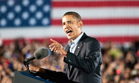 President Barack Obama campaigns at Ohio State University