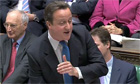 Cameron and Miliband in commons row over NHS spending