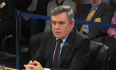 Gordon Brown at the Iraq war inquiry