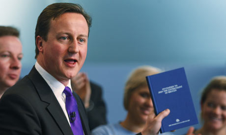 David Cameron launches his party manifesto