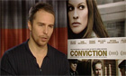 Sam Rockwell on Conviction - 'People put a lot of faith in the system and it's flawed' - video