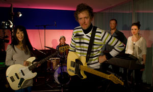Martin Creed with his band