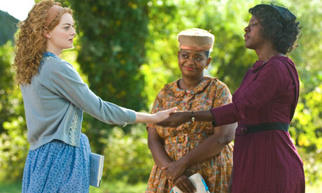 Emma Stone, Octavia Spencer and Viola Davis in a still from The Help