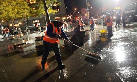 Zuccotti Park cleaned