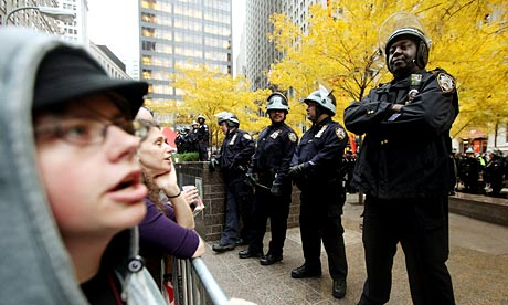 Occupy Wall Street Camp In Zuccotti Park Cleared By NYPD Over Night