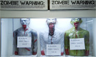 3D bleeding targets on sale at the Zombie Apocalypse Store