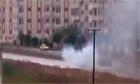 Syrian tank fire