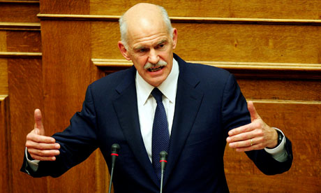 Papandreou in Greek parliament