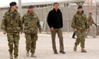 David Cameron visiting troops in Afghanistan
