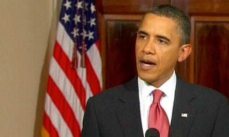 Egypt protests: Obama on Mubarak's vow to stand down - video