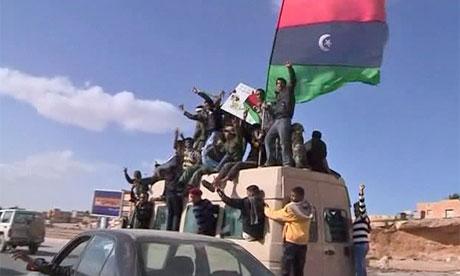 Anti-Government celebrations in Tobruk, Libya