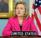 US Secretary of State Hillary Clinton delivers remarks on the current situation in Egypt