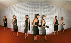Dafydd Jones panoramic photo of Kate Moss. 'Its Fashion' event in aid of Macmillan Cancer Relief