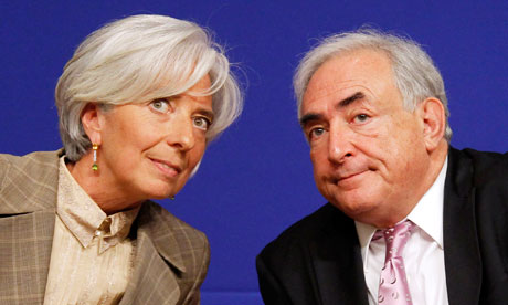 Christine Lagarde and Dominique Strauss-Kahn
