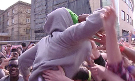 Tyler the Creator of Odd Future Wolf Gang performing at the 2011 Camden Crawl