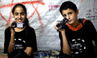 12-year-old Palestinian twins Mohamed and Mona