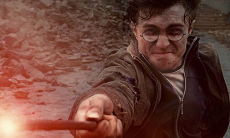 Daniel Radcliffe as Harry Potter in Harry Potter and the Deathly Hallows: Part 2
