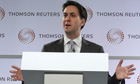 Britain's Labour opposition leader Ed Miliband