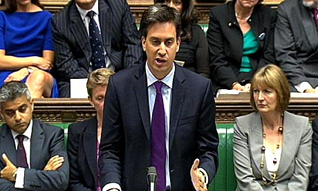 Labour Party leader Ed Miliband speaks in the House of Commons