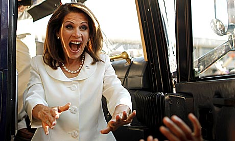 Republican presidential candidate Michele Bachmann. Photograph: Chip Somodevilla/Getty Images