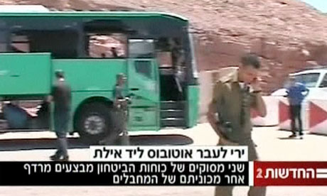 Israeli bus attacked near border with Egypt- video