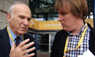 John Harris and Vince Cable at the Liberal Democrat conference