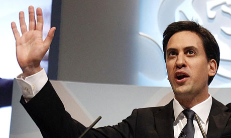Ed Miliband delivers his keynote speech