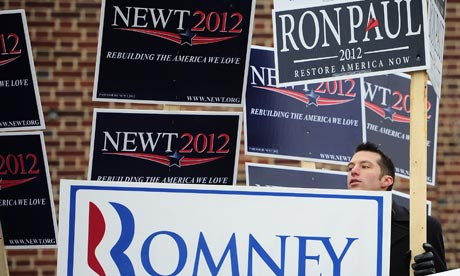 Placards in Manchester, New Hampshire