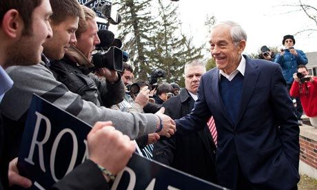 Ron Paul in Manchester, New Hampshire
