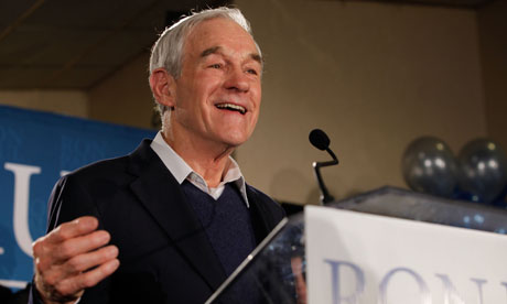 Ron Paul speaks to supporters in New Hampshire