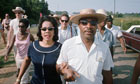 Martin Luther King Jr Marching in Rural Mississippi