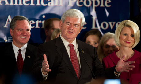 Newt Gingrich's victory speech